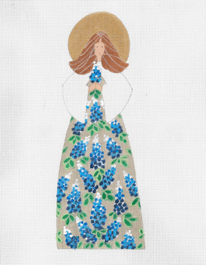 click here to view larger image of Blue Bonnet Angel, The (hand painted canvases)