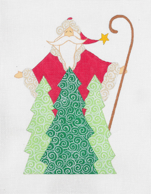 click here to view larger image of 3 Trees Santa, The (hand painted canvases)