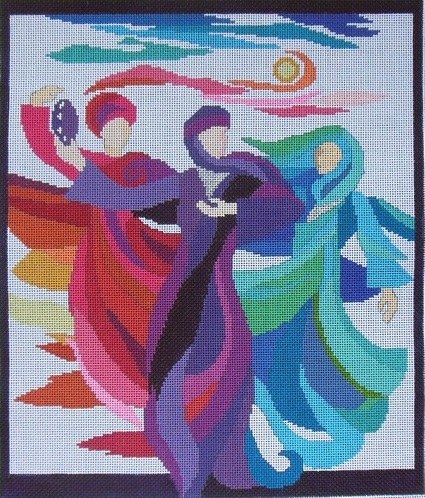 click here to view larger image of Dancing Miriam (No Background) (hand painted canvases)