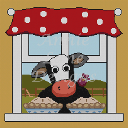 click here to view larger image of Cow Pies (hand painted canvases)