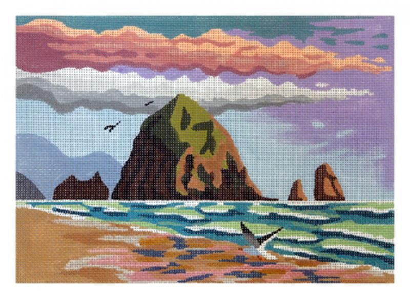 click here to view larger image of Haystack Rock - Medium (hand painted canvases)