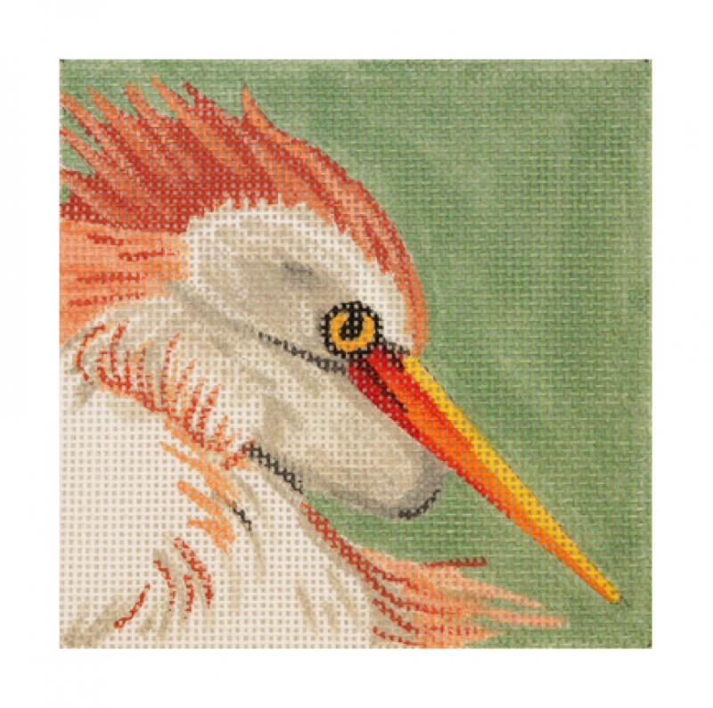 click here to view larger image of Egret Head (hand painted canvases)