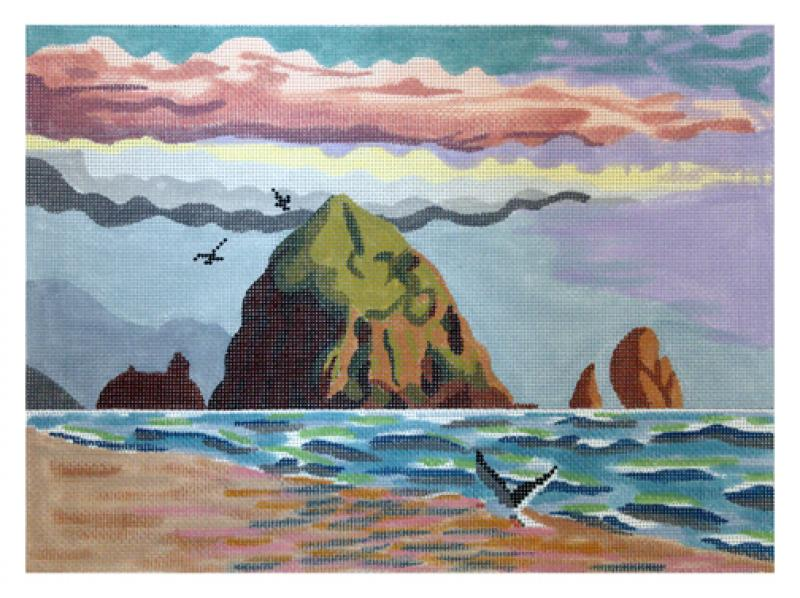 click here to view larger image of Haystack Rock - Large (hand painted canvases)