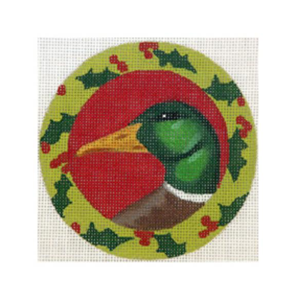 click here to view larger image of Christmas Duck (hand painted canvases)