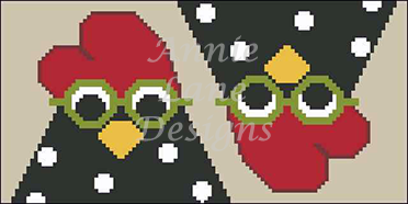 click here to view larger image of Chicken Eyeglass Case (hand painted canvases)