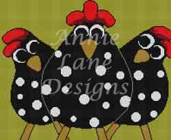 click here to view larger image of Just Us Chickens (hand painted canvases)