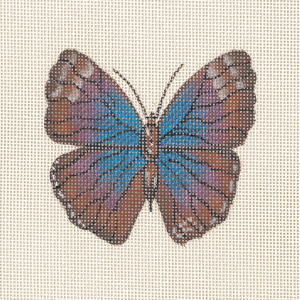 click here to view larger image of Butterfly - Morphia Violeccea (hand painted canvases)
