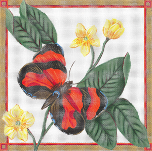 click here to view larger image of Scarlet Tiger Butterfly (hand painted canvases)