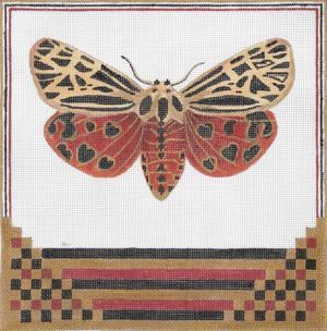 click here to view larger image of Virgin Tiger Moth (hand painted canvases)