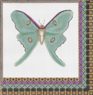 click here to view larger image of Luna Moth (hand painted canvases)
