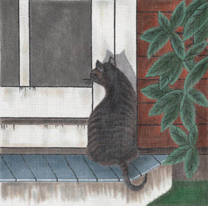 click here to view larger image of Osgood - Cat On Porch (hand painted canvases)
