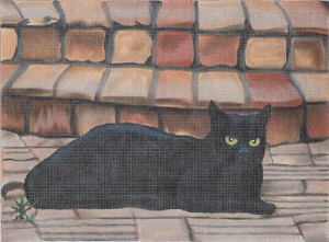 click here to view larger image of Vicky - Black Cat (hand painted canvases)