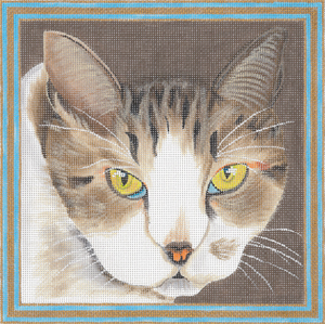 click here to view larger image of Hazel Cat (hand painted canvases)