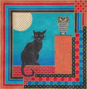 click here to view larger image of Cat And Owl (hand painted canvases)