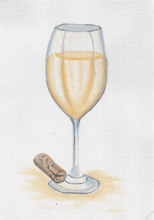 click here to view larger image of Glass Of White Wine (hand painted canvases)