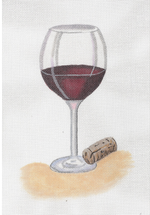 click here to view larger image of Glass Of Red Wine (hand painted canvases)