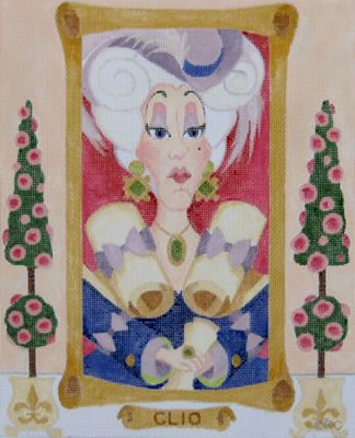 click here to view larger image of Clio - Muses (hand painted canvases)