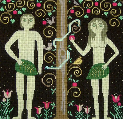 click here to view larger image of Adam and Eve (hand painted canvases)