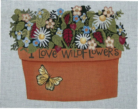 click here to view larger image of I Love Wildflowers (hand painted canvases)