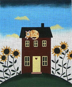 click here to view larger image of Cat On Guard (hand painted canvases)