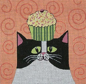 click here to view larger image of Cupcake Cat (hand painted canvases)
