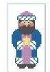 click here to view larger image of Tiny Second Wise Man (hand painted canvases)