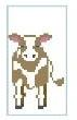 click here to view larger image of Tiny Cow (hand painted canvases)