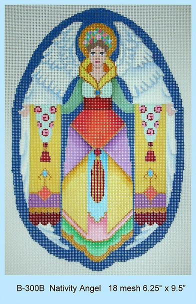 click here to view larger image of Nativity Angel (hand painted canvases)