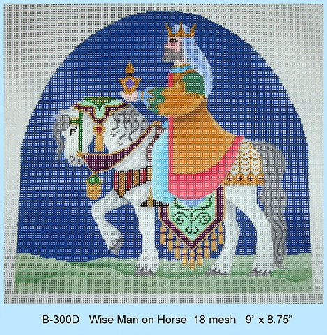 click here to view larger image of Wise Man On Horse (hand painted canvases)