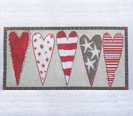 click here to view larger image of Heart Bolster (hand painted canvases)