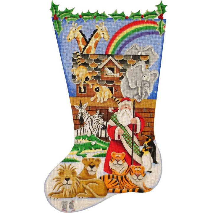 click here to view larger image of Noahs Stocking - 18ct (hand painted canvases)