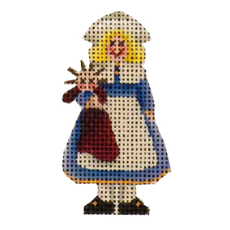 click here to view larger image of Mini Little Girl Pilgrim (hand painted canvases)