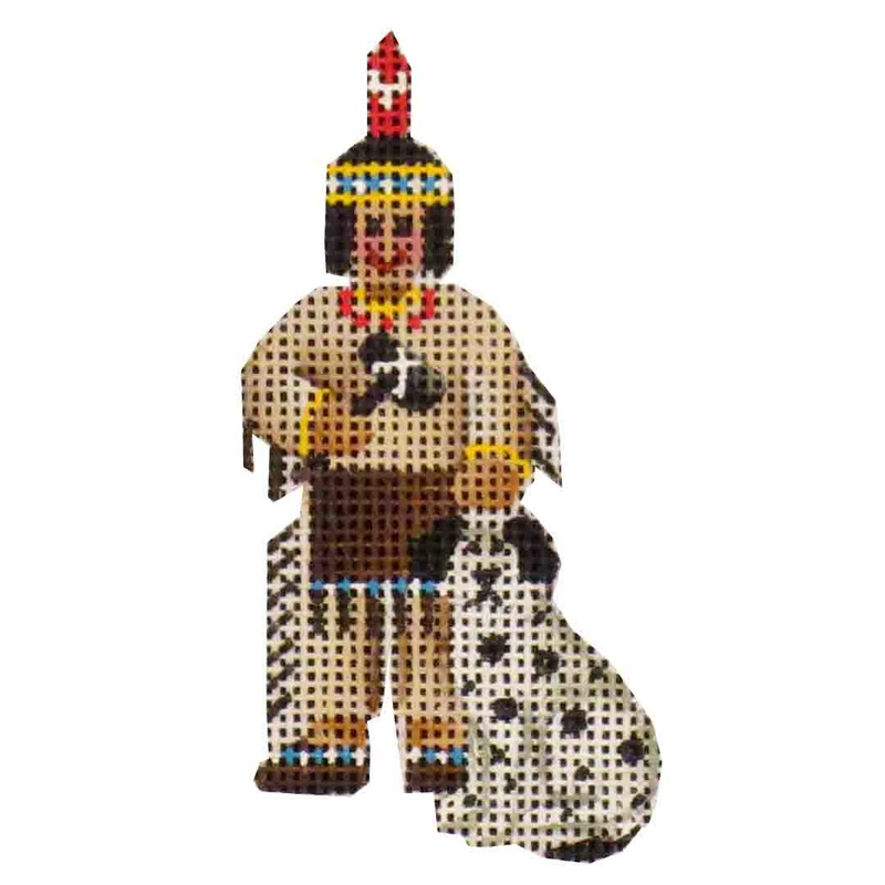click here to view larger image of Mini Indian And Dog (hand painted canvases)