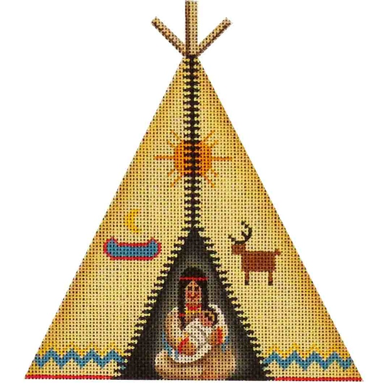 click here to view larger image of Mini Teepee (hand painted canvases)