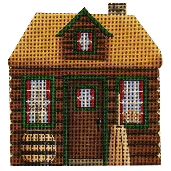 click here to view larger image of Mini Log Cabin (hand painted canvases)