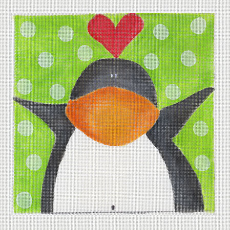 click here to view larger image of Penguin Love (hand painted canvases)