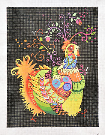click here to view larger image of Auntie Chicken (hand painted canvases)