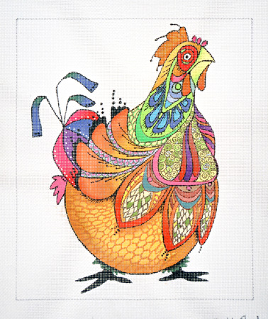 click here to view larger image of Chicken Whipple (hand painted canvases)