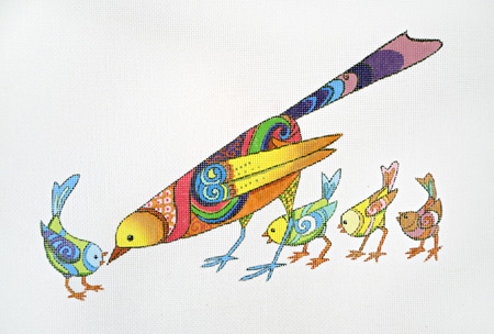 click here to view larger image of Long Bird Short (hand painted canvases)