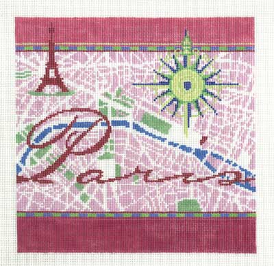 click here to view larger image of Paris - 18ct (hand painted canvases)