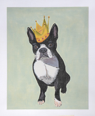 click here to view larger image of French Bulldog Crown (hand painted canvases)