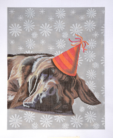 click here to view larger image of Party Dog (hand painted canvases)