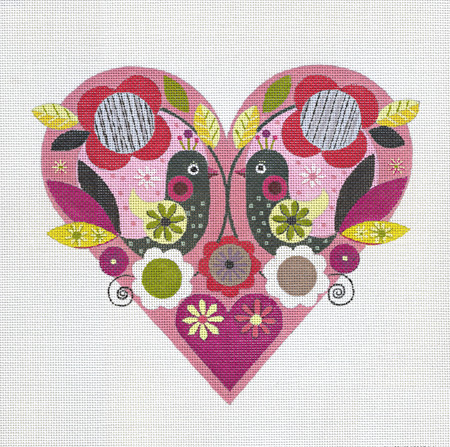 click here to view larger image of Pink Heart (hand painted canvases)