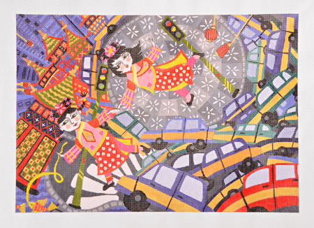 click here to view larger image of Bejing Traffic Dash (hand painted canvases)