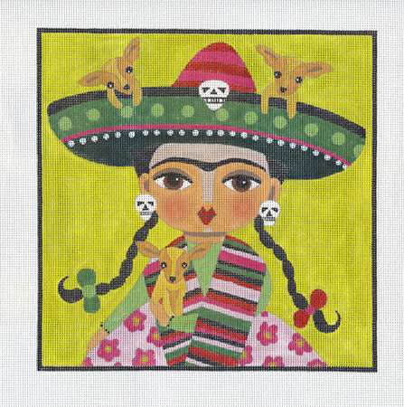 click here to view larger image of Chihuahua Girl (hand painted canvases)
