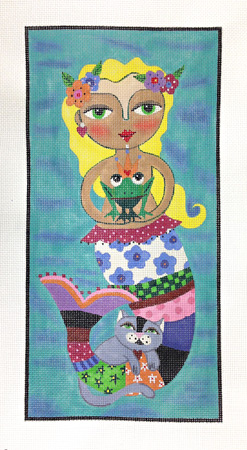 click here to view larger image of La Sirene le Prince Le Chat (hand painted canvases)