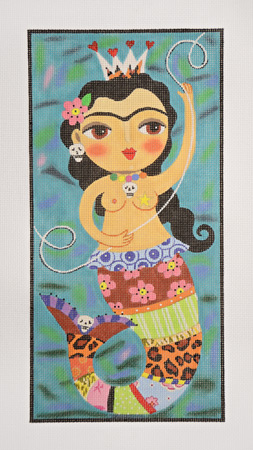 click here to view larger image of Sirena de tu Corazon - Mermaid Queen (hand painted canvases)