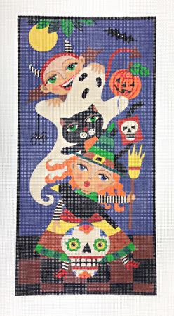 click here to view larger image of Halloween Witch Ghost Devil (hand painted canvases)