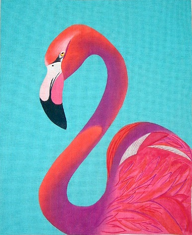 click here to view larger image of Flamingo Portrait - 18ct (hand painted canvases)
