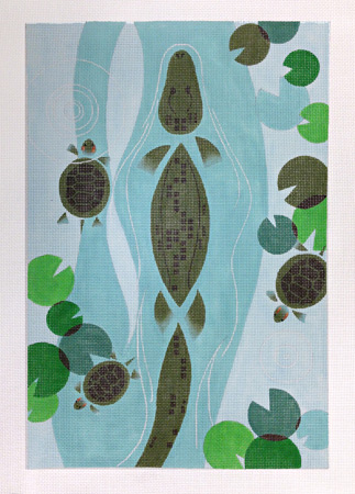 click here to view larger image of Florida Alligator (hand painted canvases)